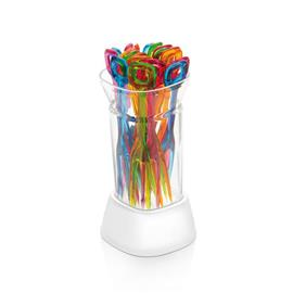 PARTY FORKS WITH CONTAINER