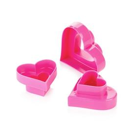 DOUBLE-SIDED COOKIE CUTTERS, HEARTS