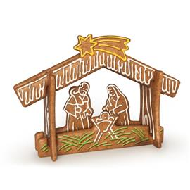 SET OF COOKIE CUTTERS, GINGERBREAD CRÈCHE