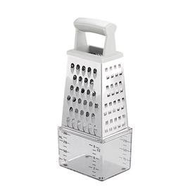 GRATER 4 SIDES, WITH MEASURING CONTAINER
