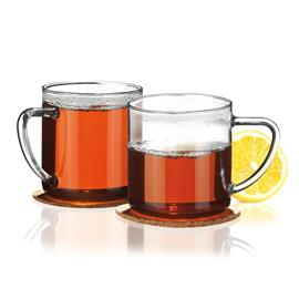 GLASS MUG WITH COASTER