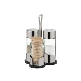 SALT, PEPPER, TOOTHPICKS SET