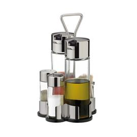 OIL, VINEGAR, SALT, PEPPER, TOOTHPICKS SET