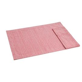FABRIC PLACE MAT WITH POCKET FOR CUTLERY, red