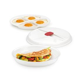 DISH FOR OMELETTES AND EGGS