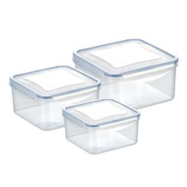 SET 3 CONTAINERS, SQUARE