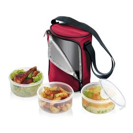 FOOD CONTAINER WITH 3 CONTAINERS