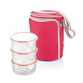 THERMAL-INSULATING LUNCH BAG WITH CONTAINERS