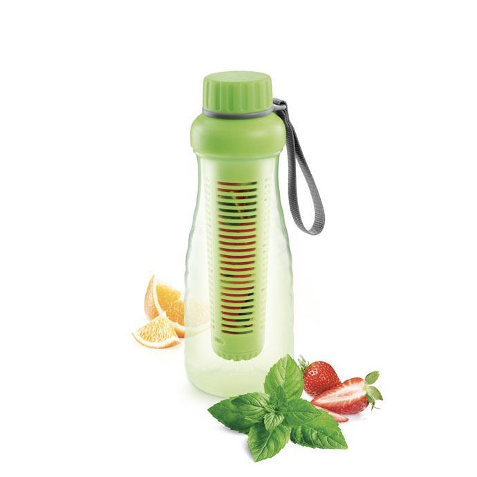 BOTTLE WITH INFUSER, GREEN