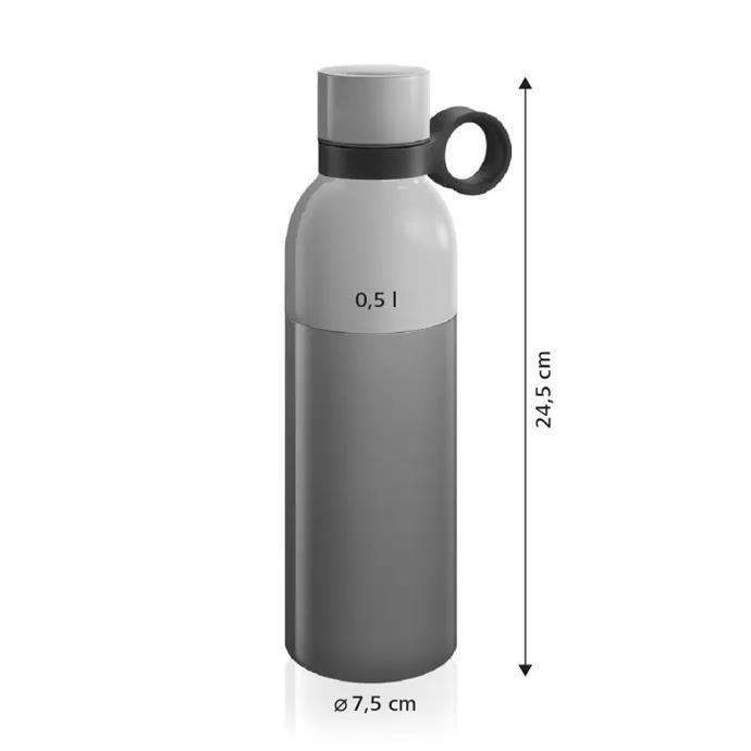 BOTTIGLIA TERMICA IN ACCIAIO INOX, 0.5 L, BICOLORE