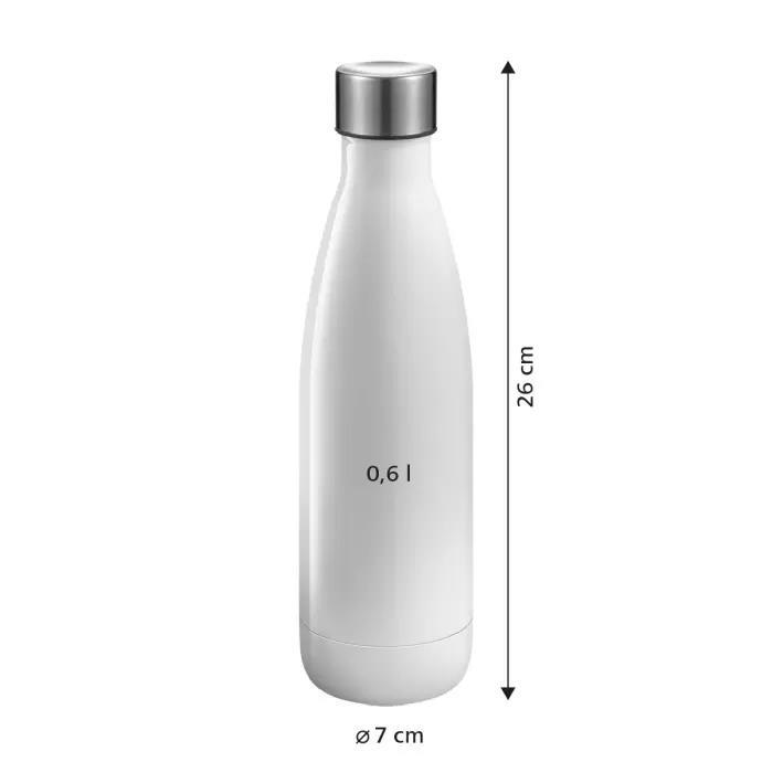 BOTTIGLIA IN ACCIAIO INOX, 0.6 L, PANNA