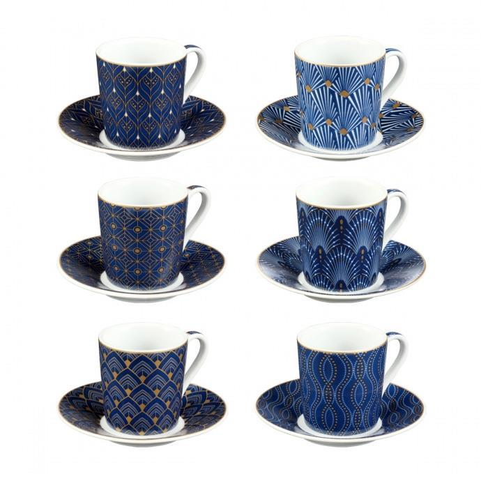 TAZZA CAFFE' CON PIATTINO, ART DECO