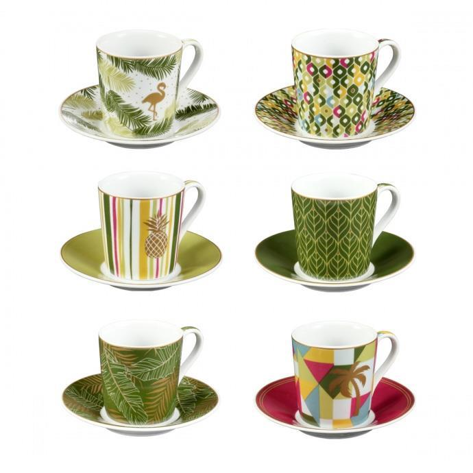 ESPRESSO CUP WITH SAUCER, Tropical