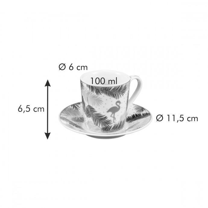TAZZA CAFFE' CON PIATTINO, TROPICAL