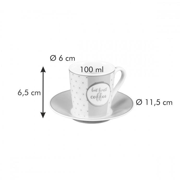 ESPRESSO CUP WITH SAUCER, I love coffee