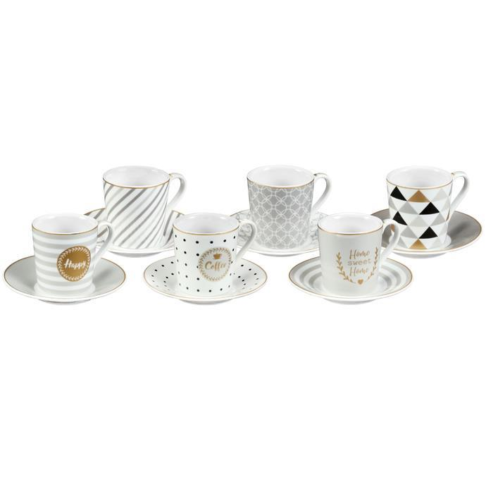 ESPRESSO CUP WITH SAUCER, HAPPY