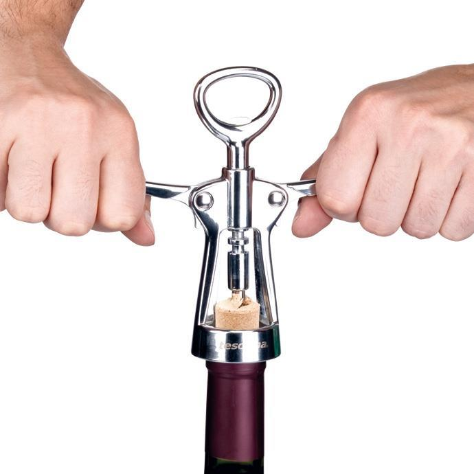 WINE BOTTLE OPENER, WITH FOIL CUTTER
