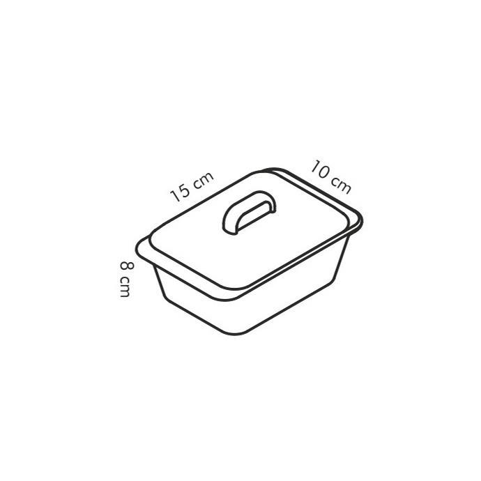 RECTANGULAR BAKING DISH WITH LID