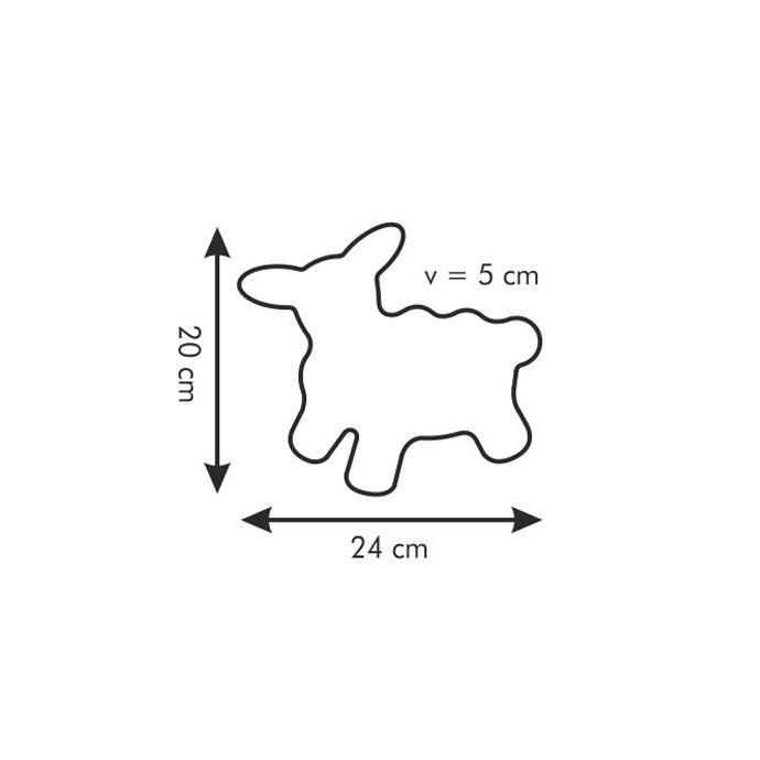 BAKING PAN & COOKIE CUTTER EASTER SHEEP