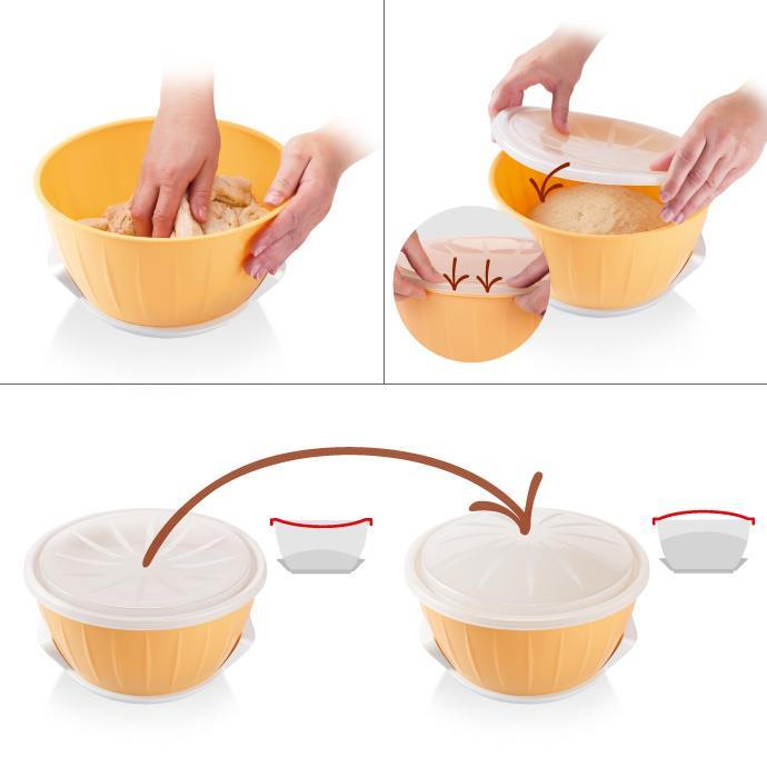 DOUGH RISING BOWL WITH WARMER