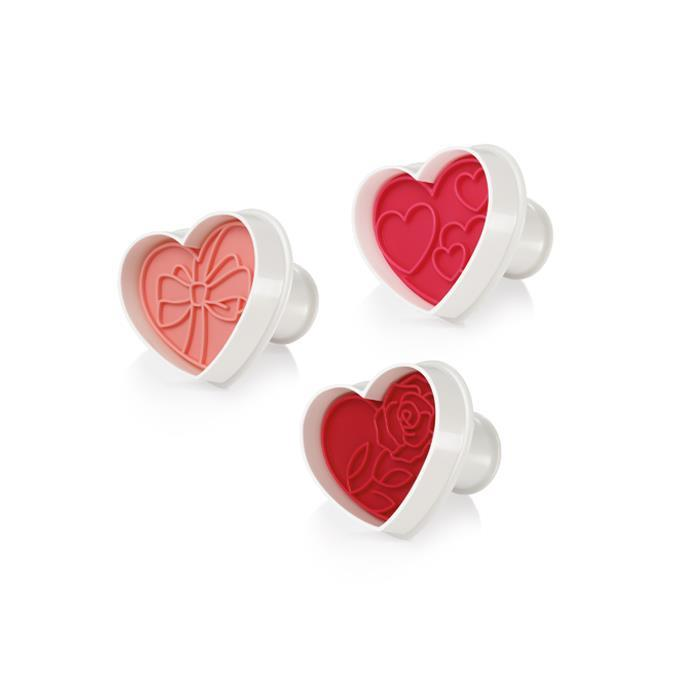 COOKIE CUTTERS WITH STAMP, HEARTS