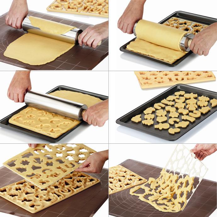 COOKIE CUTTING SHEET FOR CRESCENT-SHAPED ROLLS