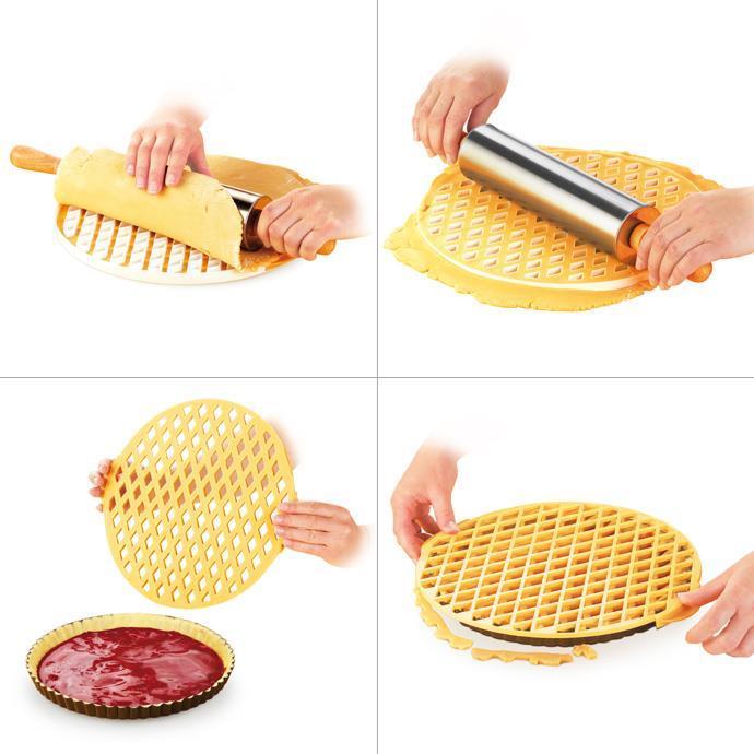 630898 Lattice Dough Round Cutter Delicia Tescoma