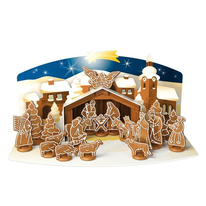 SET OF COOKIE CUTTERS, GINGERBREAD CHRISTMAS NATIVITY SCENE