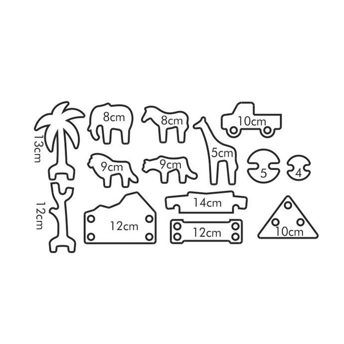 COOKIE CUTTERS GINGERBREAD SAFARI PARK KIDS