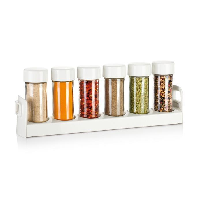 SPICE JARS IN NARROW STAND
