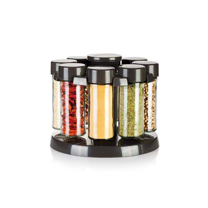 SPICE JARS IN ROTATING STAND