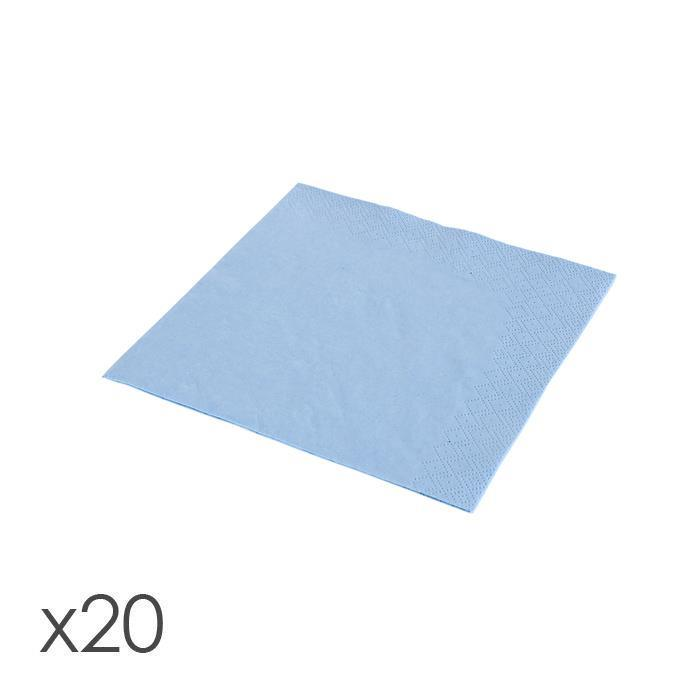 NAPKINS, LIGHT BLUE