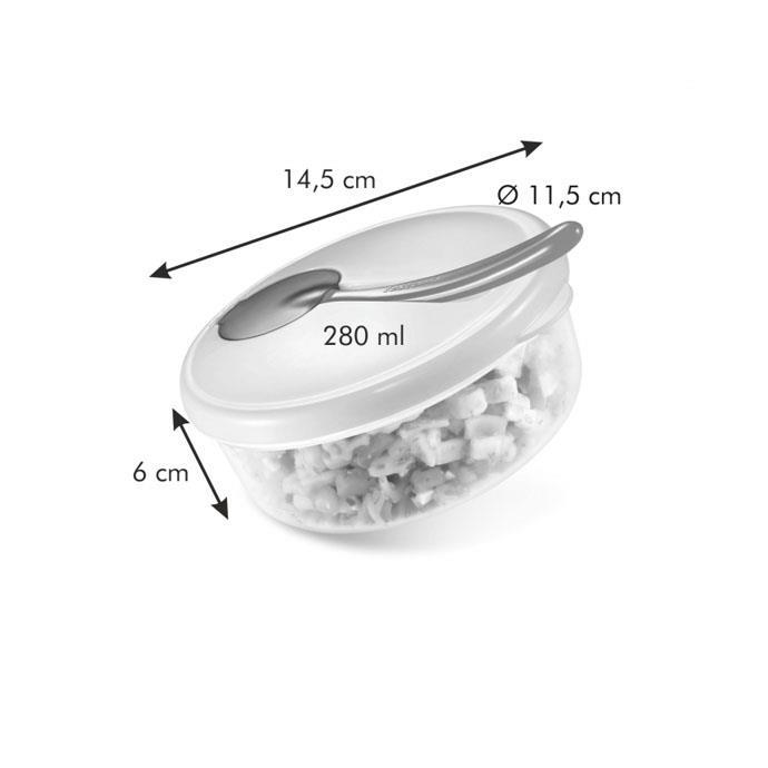 TRAVEL DISH WITH SPOON, PINK