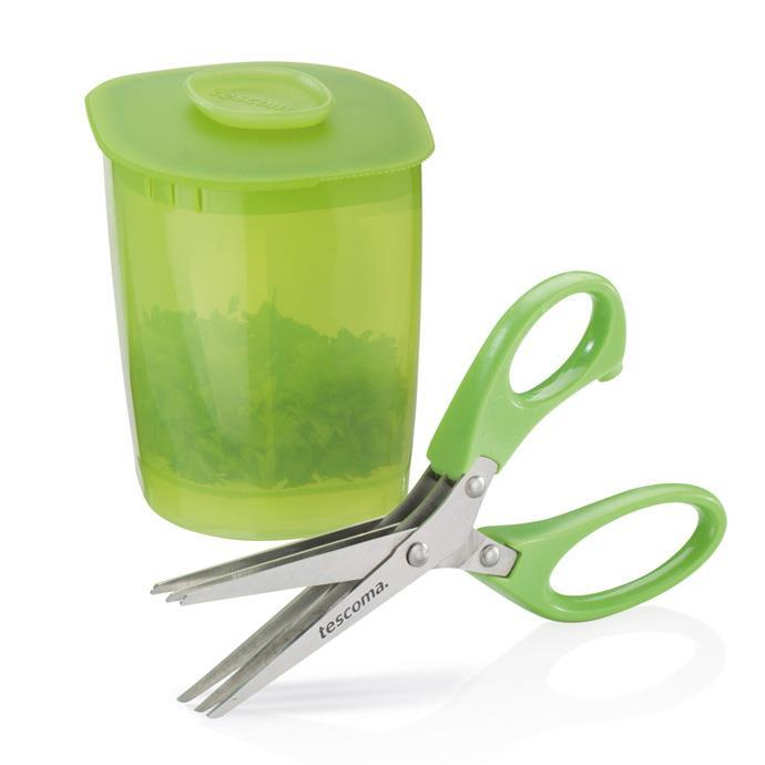 HERB SHEARS, WITH CONTAINER
