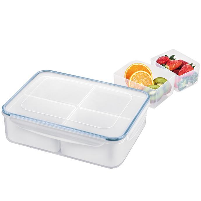 RECTANGULAR CONTAINER, 4 DISHES