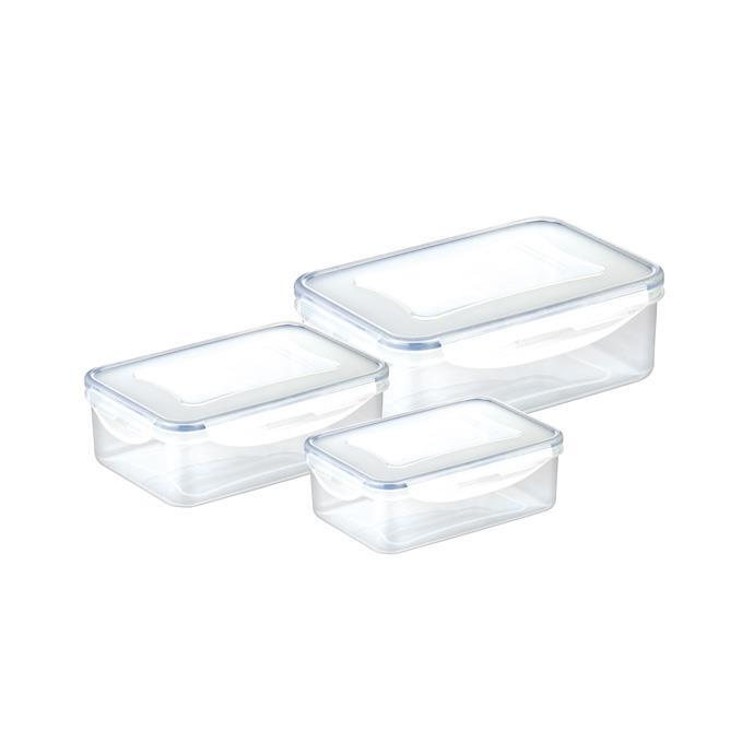 SET 3 CONTAINERS, RECTANGULAR
