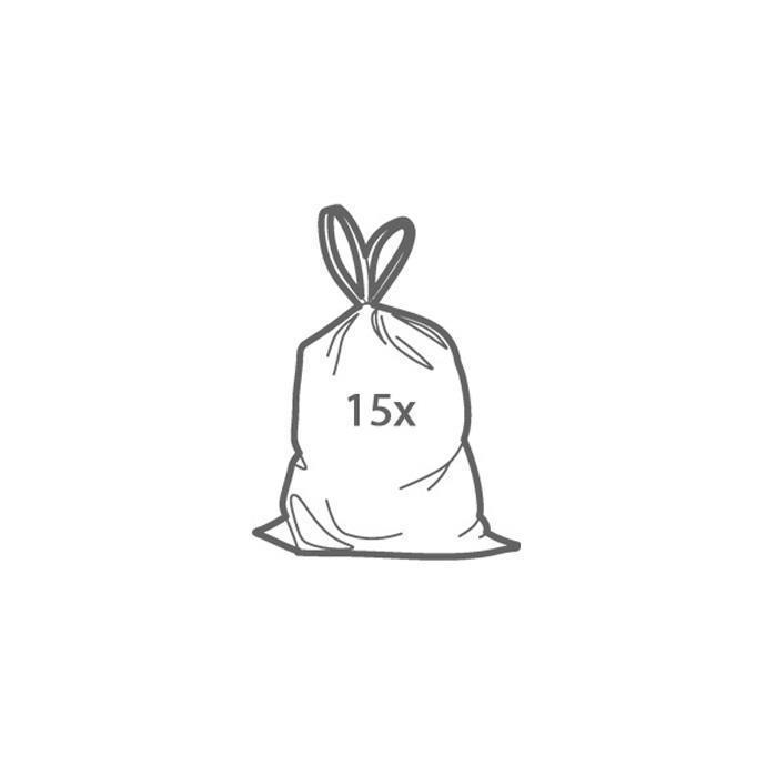 RUBBISH BAGS WITH DRAWSTRINGS, 5 L