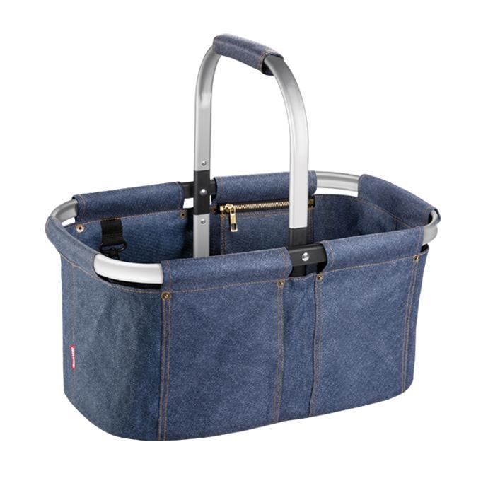 FOLDING SHOPPING BASKET, DENIM STYLE