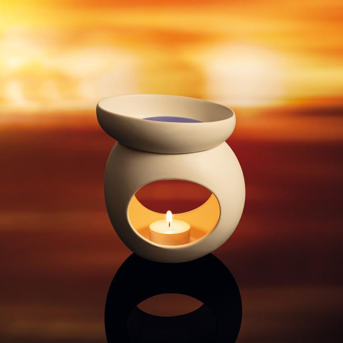 AROMA LAMP FOR SCENTED WAX, STONES, WHITE