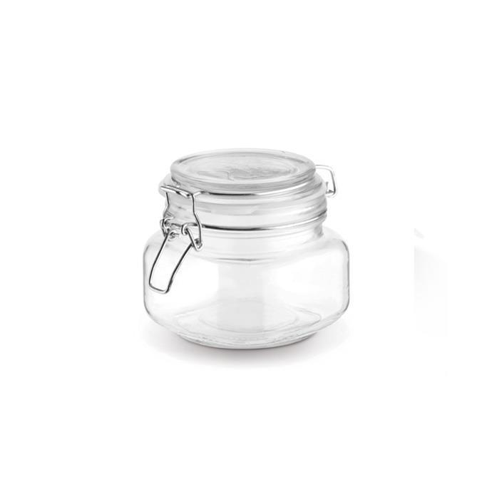JAR WITH FLIP-TOP CLOSURE