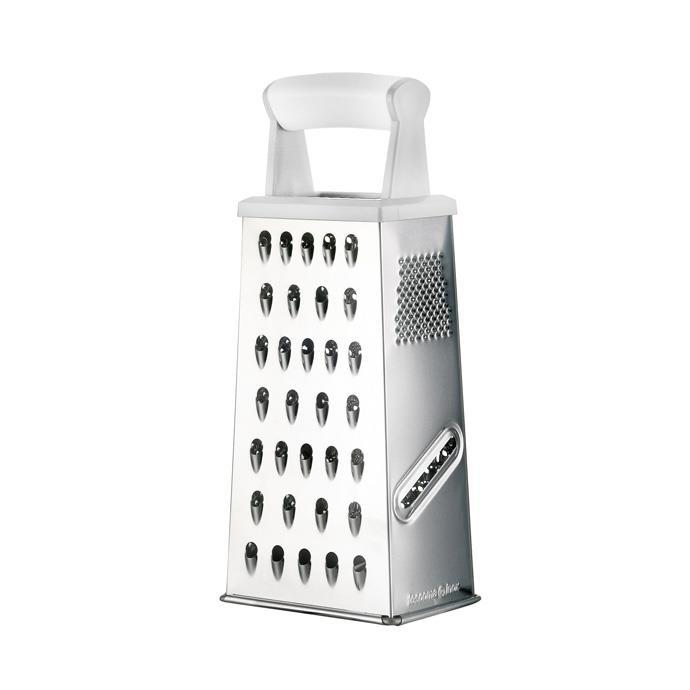 GRATER 4 SIDES, WITH PLASTIC HANDLE