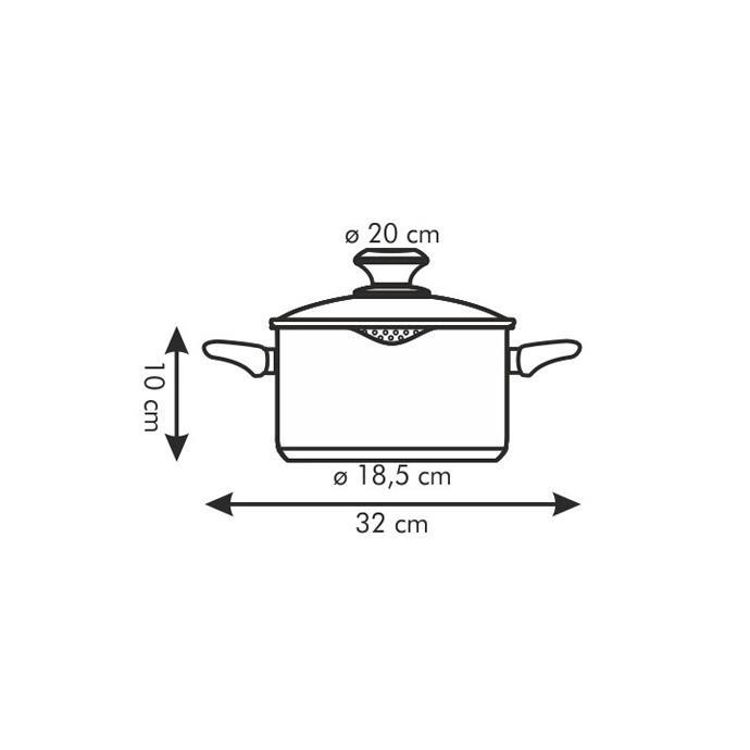CASSEROLE WITH SPOUT AND COVER